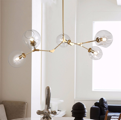 replica   BRANCHING BUBBLE CHANDELIER 5 by LINDSEY ADELMAN ( GOLD )