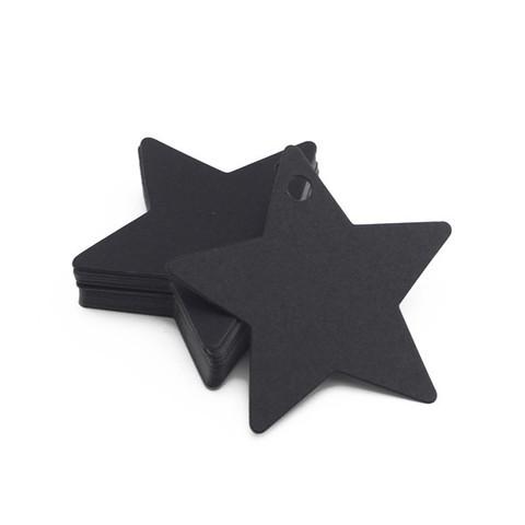Бірка з картону Зірочка - чорна