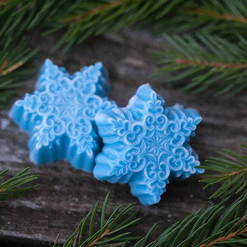 Пластиковая форма для мыловарения Снежинки малые