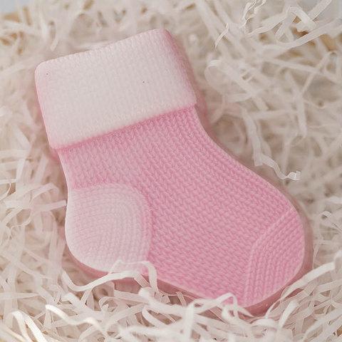 Пластиковая форма для мыла Вязаный носок правый
