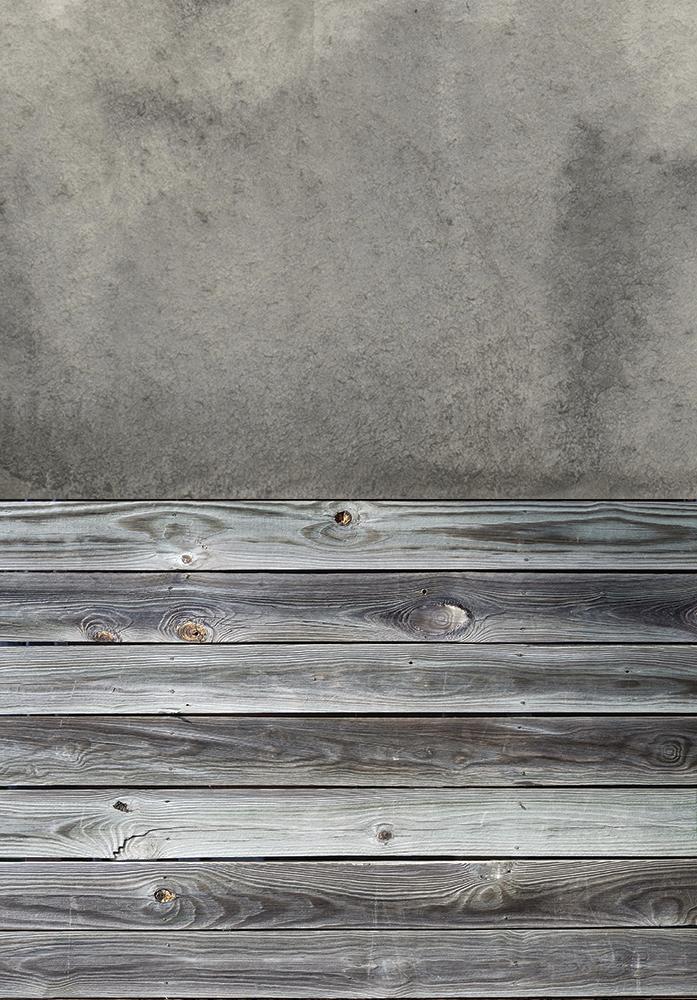 Разворот фотофона: серая акварель