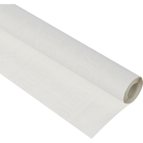 Скатерть бумажная 1,2x5 м белая рулон