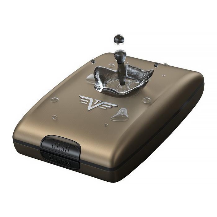 Кошелек c защитой Tru Virtu OYSTER, цвет кофейный , 102*70*27 мм
