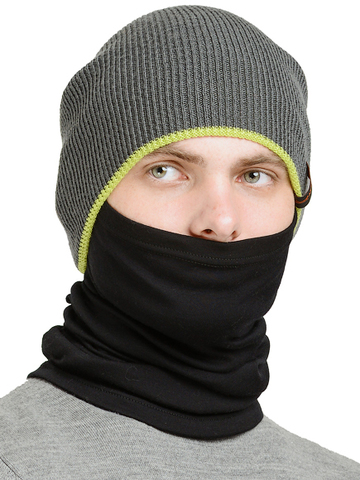 Баф с шерстью мериноса Norveg Climate Control Монстр чёрный