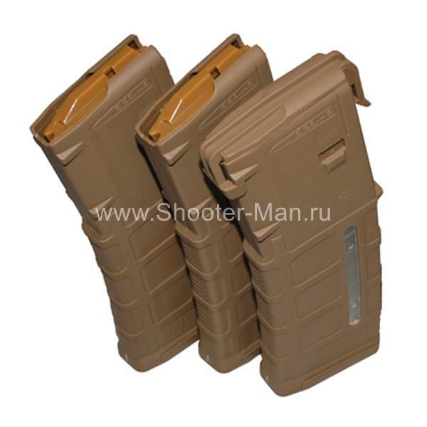 Магазин для АR, калибра 223 Rem., 30-ти зарядные с окном расходования боеприпасов Shooter-Man