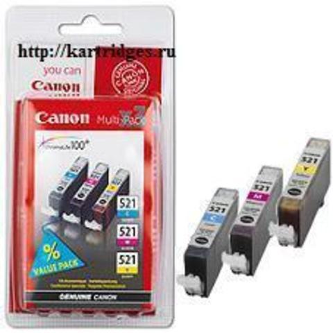 Картридж Canon CLI-521C / M / Y / 2934B007