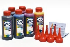 Комплект чернил OCP для картриджей CANON BCI-6 (OCP BK 68, C51, M49, Y47, CL52, ML50). 100gr x 6