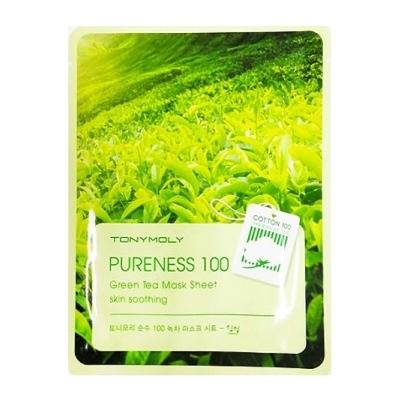 Тканевые маски Успокаивающая маска с экстрактом зеленого чая Tony Moly Pureness 100 Green Tea Mask Sheet Uspokaivaiushchaia-maska-s-ekstraktom-zelenogo-chaia-Tony-Moly-Pureness-100-Green-Tea-Mask-Sheet.jpg