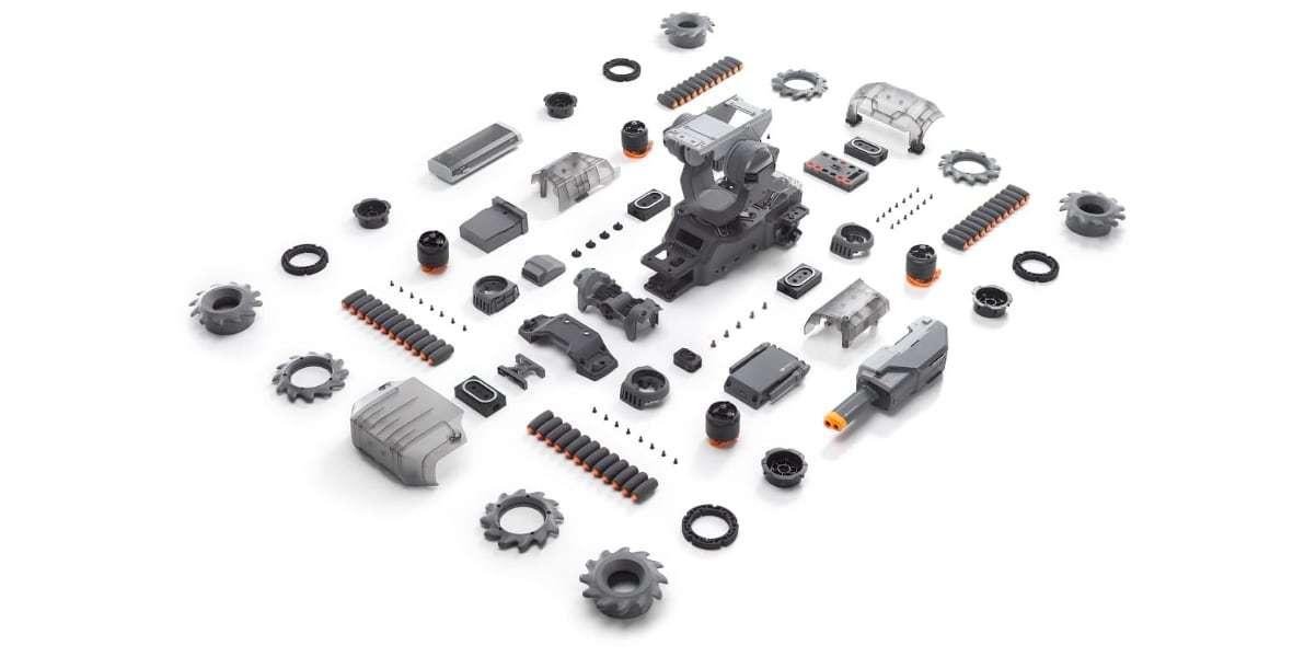 Робот DJI RoboMaster S1 разобран