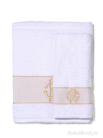 Набор полотенец 2 шт Roberto Cavalli Araldico белый