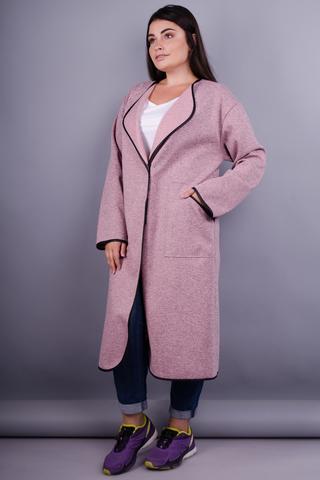 Віта. Модний кардиган великі розміри. Меланж рожевий.