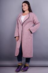 Вита. Модный кардиган плюс сайз. Меланж розовый.