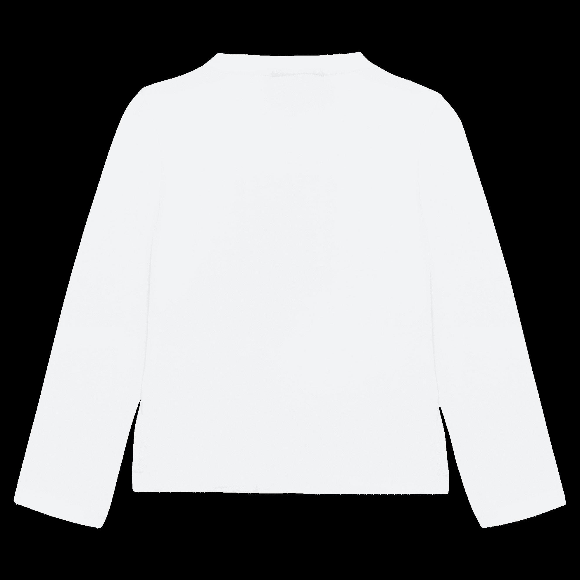 Белый лонгслив с принтом