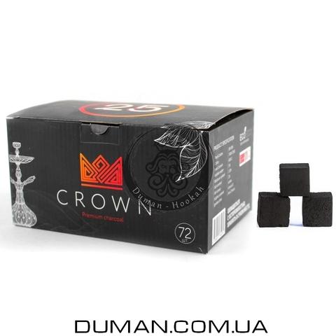 Натуральный кокосовый уголь Crown (Краун) для кальяна  1кг 72куб 25*25мм