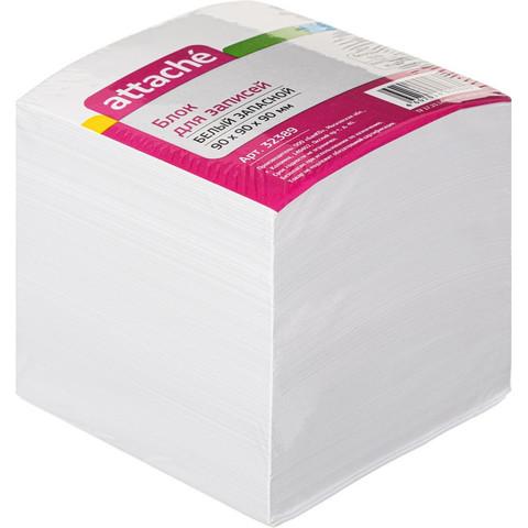Блок-кубик ATTACHE запасной 9х9х9 белый блок