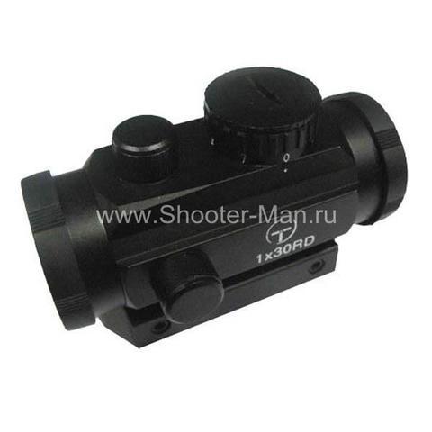 Коллиматор Target Optic 1х30 закрытого типа на Weaver, подсветка точка 50 фото