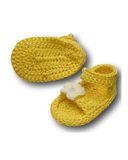 Вязаные босоножки - Желтый. Одежда для кукол, пупсов и мягких игрушек.