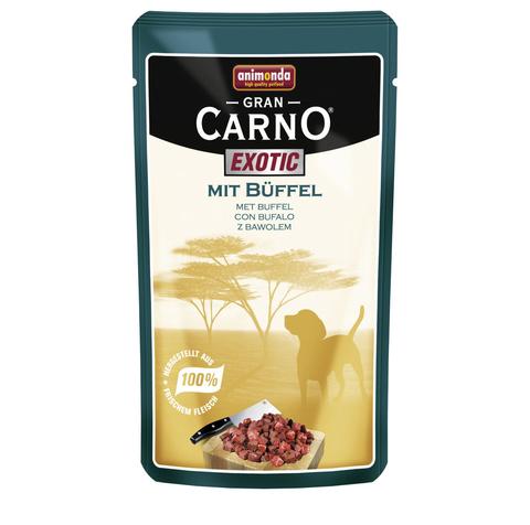 Паучи Animonda Gran Carno Exotic с мясом буйвола для взрослых собак