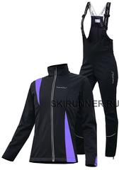 Женский утеплённый лыжный костюм Nordski Active Black-Violet