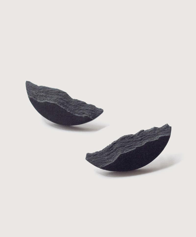 Серьги Curve Black Medium