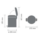 Мусорный бак newicon (5 л), металлическое внутреннее ведро, Белый, арт. 113406 - превью 5