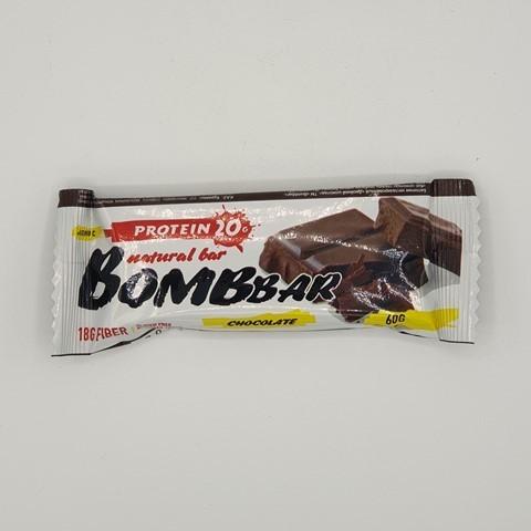 Батончик Natural Bar вкус Двойной-Шоколад BOMBBAR, 60 гр