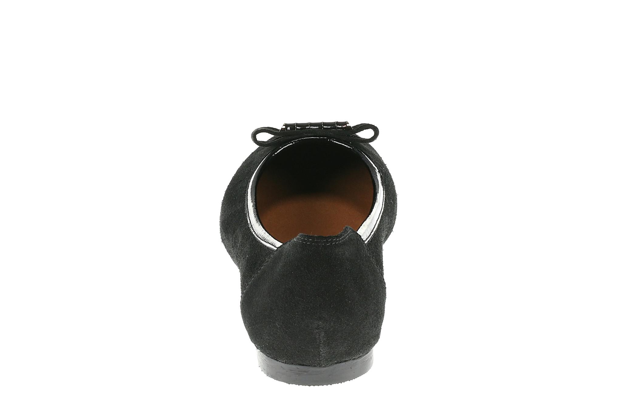 568298 Туфли женские черные замша больших размеров марки Делфино