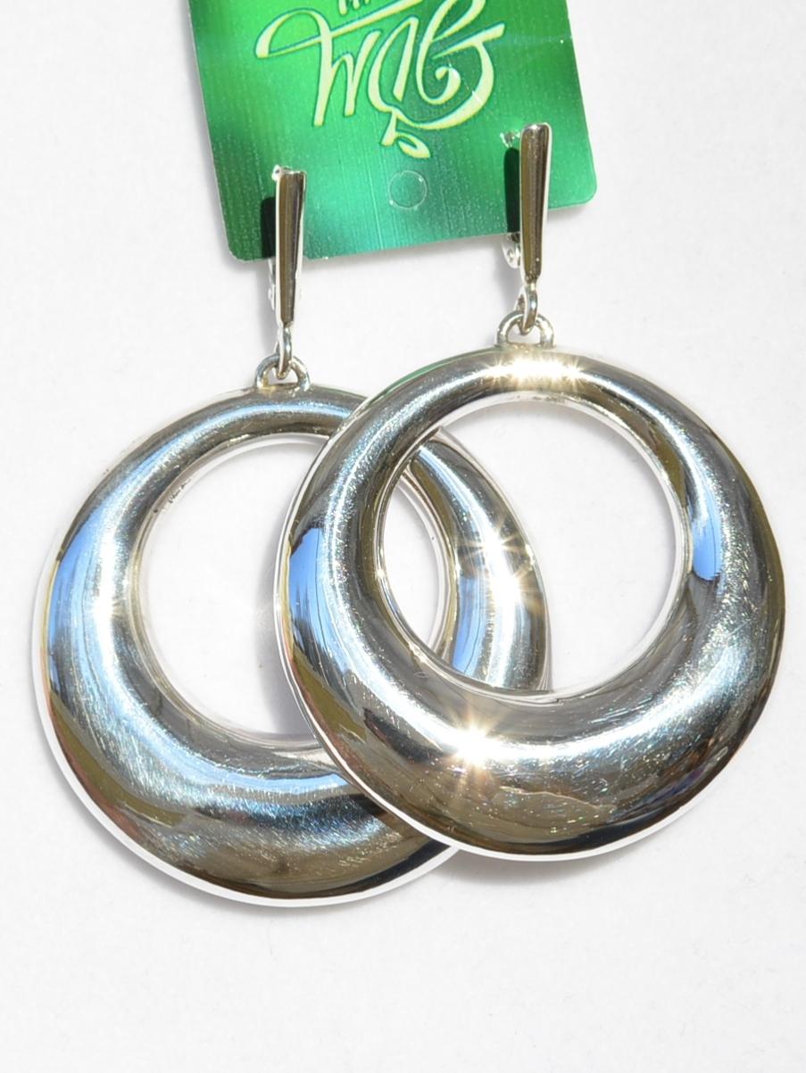 Кольца  (серьги из серебра)