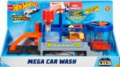 Hot Wheels - Mega Car Wash Play Set - Blue/Orange