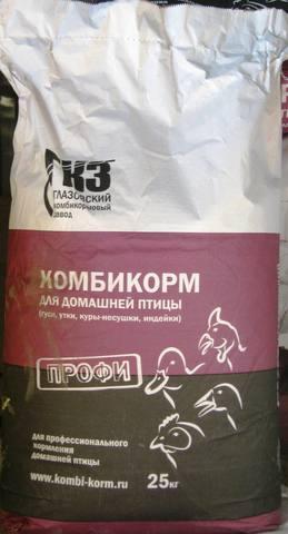 Комбикорм ПК-1-2 для кур-несушек   25г, Глазовский комбикормовый завод