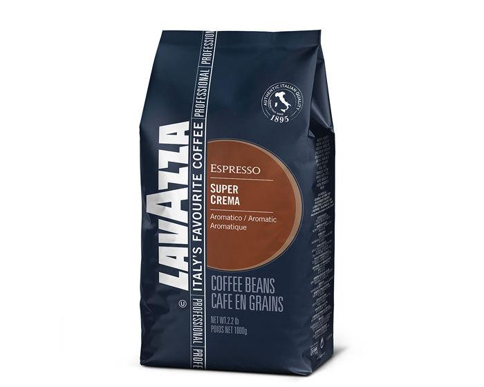 Кофе в зернах LavAzza Super Crema, 1 кг (Лавацца)