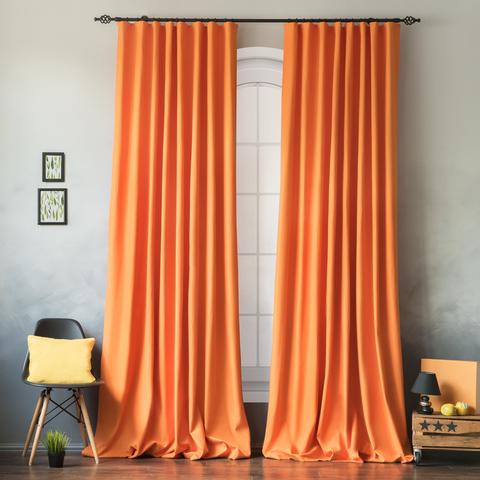 Комплект штор хлопок Эмми оранжевый