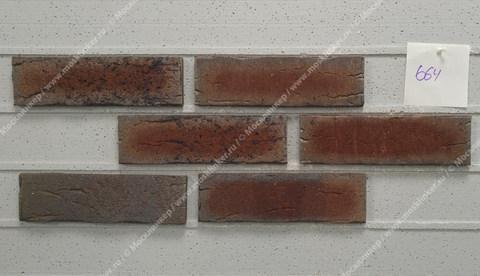 Feldhaus Klinker - R664NF14, Sintra Cerasi Aubergine, 240x14x71 - Клинкерная плитка для фасада и внутренней отделки