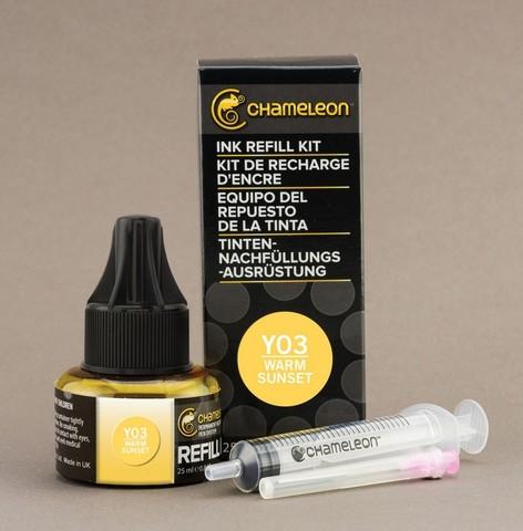 Чернила для маркеров Chameleon теплый закат YO3, 25 мл