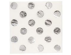 Салфетка фольгирован серебрян 33см 6штG