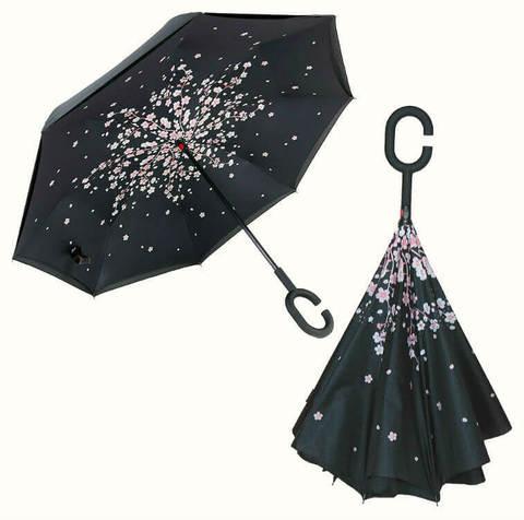 Купить онлайн Обратный зонт ReU Sakura (арт.RU-11) в магазине Зонтофф.