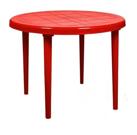 Стол круглый д-900. Цвет: Красный