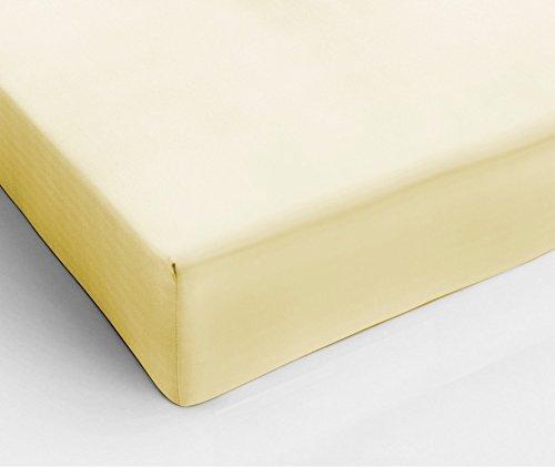 Простыня на резинке 200x200 Сaleffi Tinta Unito с бордюром светло-желтая