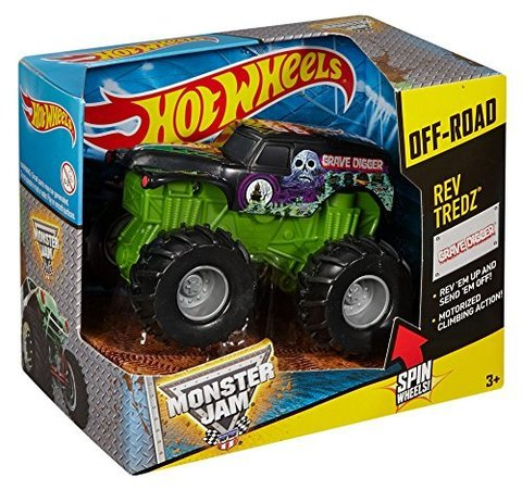 Hot Wheels Monster Jam Rev Tredz Grave Digger Truck