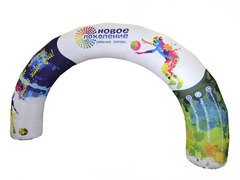 Круглая надувная арка с полноцветной печатью