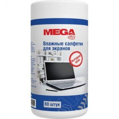 Салфетки ProMega Office  For Screen  в тубе д/чист. экран. 80шт