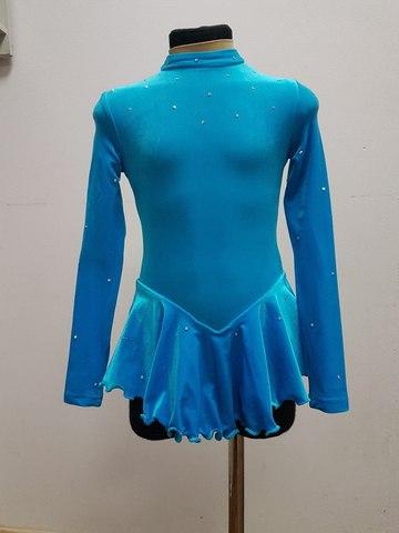 Платье для выступлений, рост 128 см (бирюзовое)