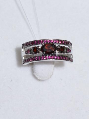 Кольцо с гранатами (кольцо из серебра).