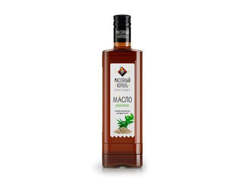 Масляный король масло конопляное стеклянная бутылка 0,35 л