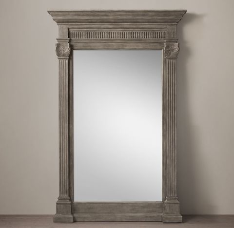 18th C. Neoclassical Fluted Leaner Mirror