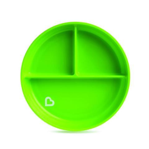 Munchkin детская тарелочка порционная на присоске Зеленый 6+