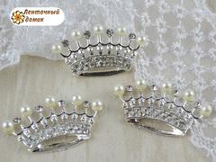 Корона стразовая классическая на серебре № 9