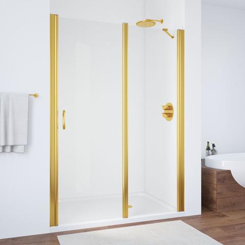Душевая дверь в нишу Vegas Glass EP-F-1  профиль золото, стекло прозрачное