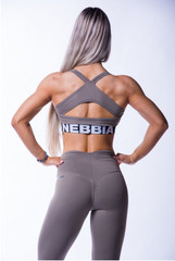 Женский топ Nebbia open back mini top 620 mocha