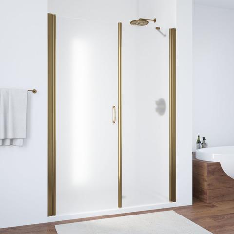Душевая дверь в нишу Vegas Glass EP-2F профиль бронза, стекло сатин